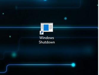 Shutdown button finally created